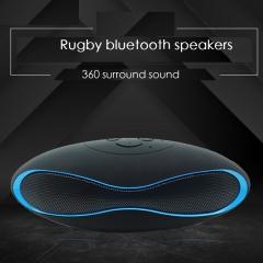 Mini rugby X6 wireless bluetooth  plug-in mini - box mini outdoor audio BLACK D-x6MINI