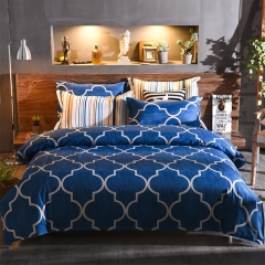 100% polyester  3PCS/4Pcs Blue High Quality Pure Color Bedding Set/ Duvet Cover Per Picture blue queen