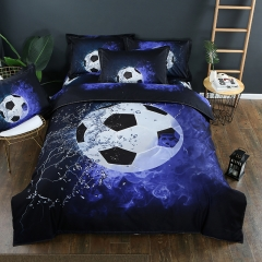 World cup football 3D printing 3pcs Beddings set home textiles blue queen