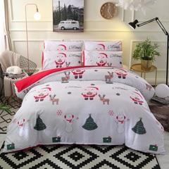 3D 3PCS bedding set 100% polyester Christmas cartoon snowman home textile white king