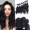 Brazilian Natural Wave Hair 100% Virgin Human Hair Weave Bundles 7A Grade 200g/lot 6PCS natural black one size