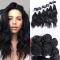 Brazilian Natural Wave Hair 100% Virgin Human Hair Weave Bundles 7A Grade 200g/lot 6PCS natural black one size