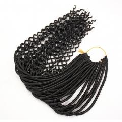 Crochet Braid hair extensions Faux Locs Hair 20 inch 24 strands/pack Synthetic Fiber Braiding Hair #1 one size