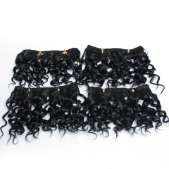4 Pack Hair Synthetic Weaving Jerry Curly Braid Ombre Braiding Hair Weft Extentions #1