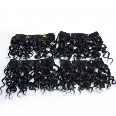 4 Pack Hair Synthetic Weaving Jerry Curly Braid Ombre Braiding Hair Weft Extentions #1/360 one size