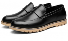 Luxury Brand Men Shoes Trend Leisure Leather Shoes Breathable For Male Footwear Loafers 8930 black 40