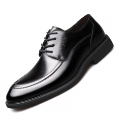 High Quality Men Leather Shoes Business Formal Man Dress Wedding Shoe Handmade Luxury Loafers black 40