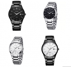 Curren Luxury Brand Men Fashion Business CalendarWatch Men Water Resistant Quartz Watch 8106 silver black one size