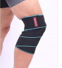 Sports knee squat lifting skid Leggings silicone health wound bandage blue f