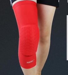 Aolikes Honeycomb Sports Safety Tapes volleyball Basketball Compression Socks Knee Wraps Brace red m