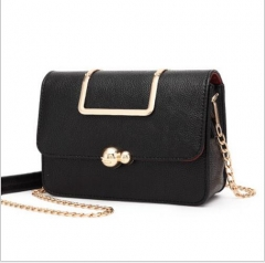 Diagonal fashion handbag Crossbody Bag New all-match ladies handbag chain black one size
