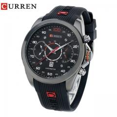 CURREN Mens Watches Men's Sports Quartz Wristwatches Relogio Masculino Men Curren Watches 8166 black one size