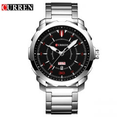 Curren Watch men luxury relogio masculino quartz watch fashion casual auto date and calendar 8266 red one size