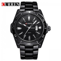 CURREN 8110 watches men Top Brand fashion watch quartz watch male men Army sports Analog Casual black one size