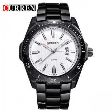 CURREN 8110 watches men Top Brand fashion watch quartz watch male men Army sports Analog Casual silver black one size