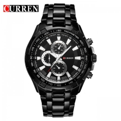 CURREN Watches Men quartz Top Brand Analog Military male Watches Men Sports army Watch Waterproof black one size