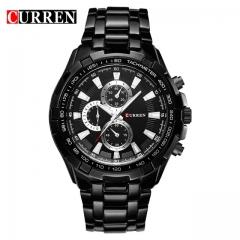 CURREN Watches Men quartz Top Brand Analog Military male Watches Men Sports army Watch Waterproof black one size