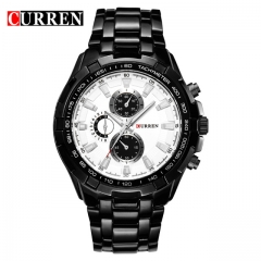 CURREN Watches Men quartz Top Brand Analog Military male Watches Men Sports army Watch Waterproof silver black one size