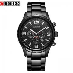 CURREN Luxury Casual Brand Orologio Date Men Sports Reloj Military Quartz Watch 8056 black one size