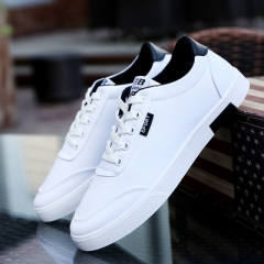 Spring Autumn New Fashion Men Shoes Comfortable Casual Shoes Canvas Male Breathable Sneaker Shoes white 39