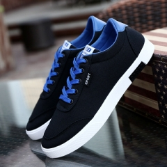 Spring Autumn New Fashion Men Shoes Comfortable Casual Shoes Canvas Male Breathable Sneaker Shoes black 39