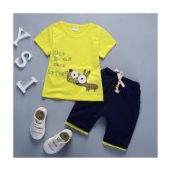 QIHU Kids Fashion Children Boys T shirts Cotton Tees Cartoon Micky style Girls Clothes Kid T-Shirt yellow 80cm