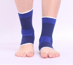 1Pair Ankle Support Brace Foot Basketball Football Badminton Anti Sprained Ankles Warm Nursing Care blue 1pair(Left foot and right foot)