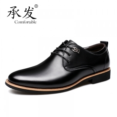 Fashion Oxford Business Men Genuine Leather Soft Casual Breathable Men's Flats Shoes yellow black 40