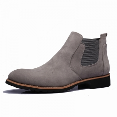 Luxury Brand Men Shoes Trend Leisure Leather Shoes Breathable For Male Footwear Loafers Men Flats gray 40
