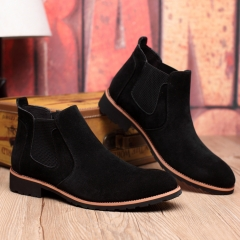 Luxury Brand Men Shoes Trend Leisure Leather Shoes Breathable For Male Footwear Loafers Men Flats black 40