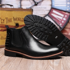 2568 Men Shoes Trend Leisure Leather Shoes Breathable For Male Footwear Loafers black 40