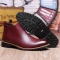 2568 Men Shoes Trend Leisure Leather Shoes Breathable For Male Footwear Loafers red 40