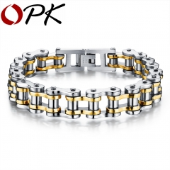 Stainless Steel Men Bracelet Fashion Sport Jewelry Bike Bicycle Chain Link Bracelet Casual Jewellery 2 one size