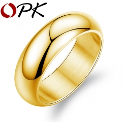 Man Party Ring Classical Stainless Full Steel Men's Friendship Jewelry Personality Finger Bands gold 7