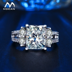 White gold Color vintage rings For Women AAA Zircon jewelry vintage ring wedding engagement women silver 6