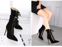 High heeled shoes with early spring shoes black 39