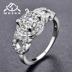 Engagement Rings for Women AAA Zircon Jewelry Luxury Wedding Classic Accessories silver 7