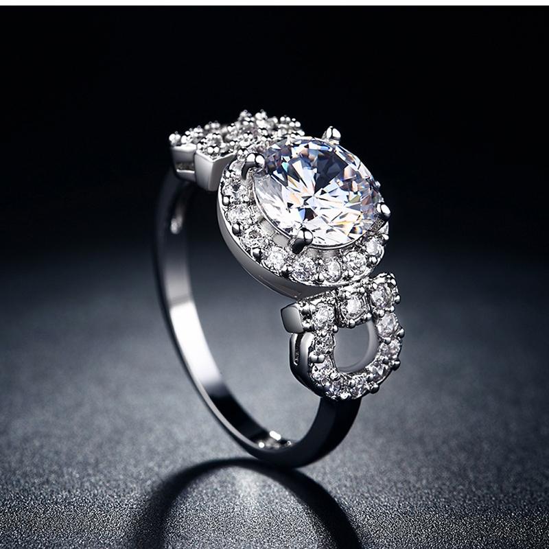 Engagement Rings For Women AAA Zircon Jewelry Luxury
