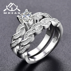 Ring sets for women engagement women rings bijoux vintage wedding ring sets bague Accessories white 6