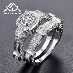 Rings for Women Big AAA Zircon Jewelry Women Ring Sets Wedding Engagement Women Rings Bijoux Ring white 6
