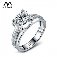 Round AAA Zircon Classic Style Engagement Jewelry Rings For Women white 6