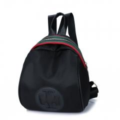 Brand Designer Floral Women Backpack School Bag Set Chain Shoulder Bag Bow Knapsack for Teenage black one size