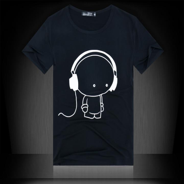 Summer men's short sleeved T-shirt, slim shirt, men's round neck T-shirt black XL cotton