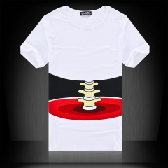 Summer men's short sleeved T-shirt, slim shirt, men's round neck T-shirt white m cotton