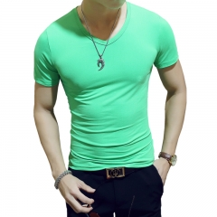New Arrivals 2018 Fashion Men T Shirt cat Printed t-shirt Short Sleeve Casual Tops Summer Tee green v collar xxxl cotton