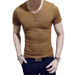 New Arrivals 2018 Fashion Men T Shirt cat Printed t-shirt Short Sleeve Casual Tops Summer Tee coffee v collar xxl cotton