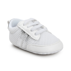 Small wave shoes soft bottom antiskid step shoes baby shoes polychromatic silvery 11cm
