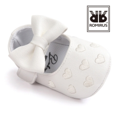 Baby shoes, love, antiskid baby princess shoes, baby shoes, soft bottom toddler shoes. white 11cm