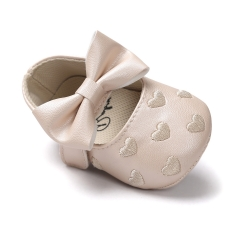 Baby shoes, love, antiskid baby princess shoes, baby shoes, soft bottom toddler shoes. Khaki 11cm