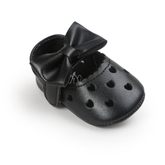 Baby shoes, love, antiskid baby princess shoes, baby shoes, soft bottom toddler shoes. black 11cm